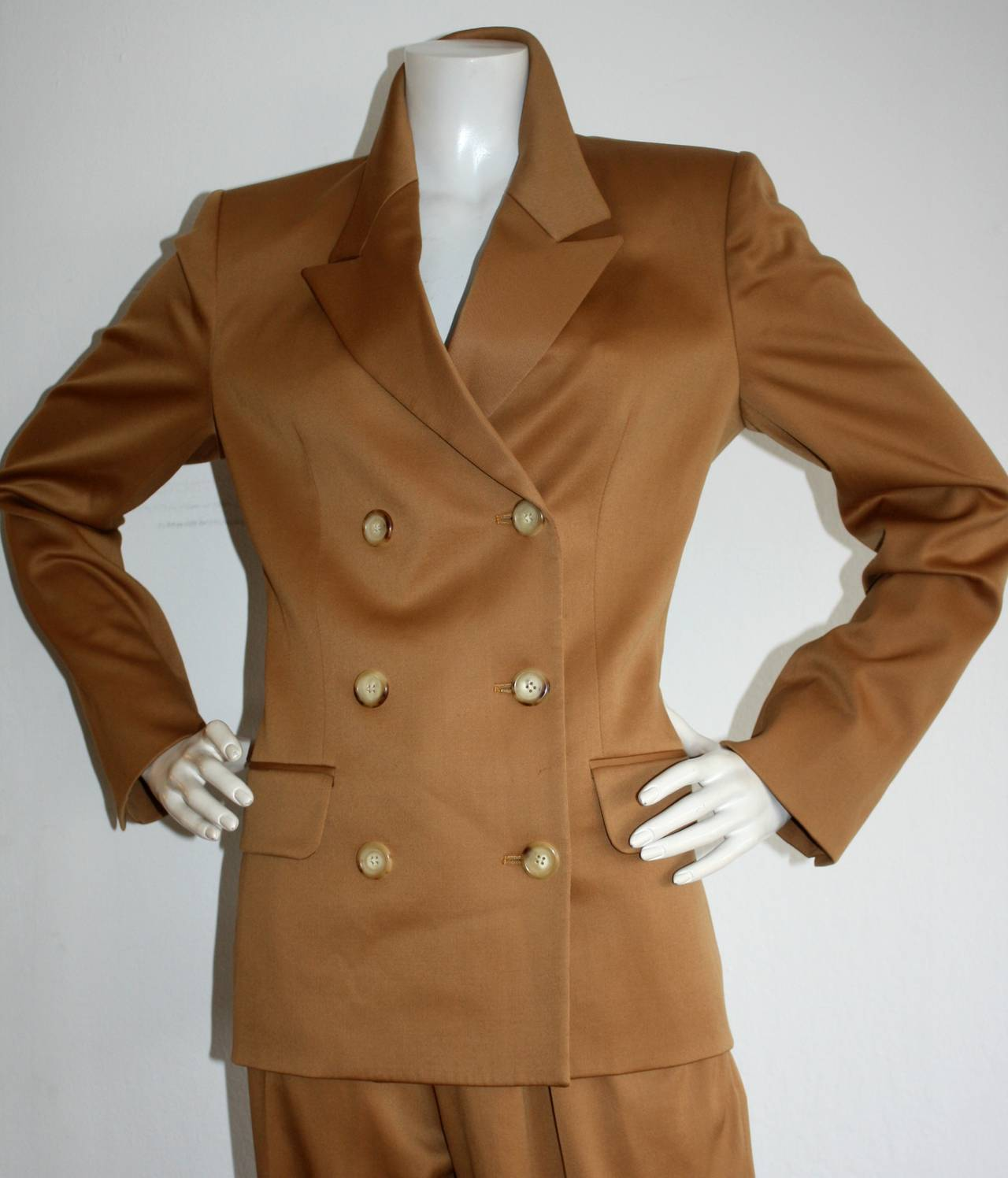 Iconic Vintage Yves Saint Laurent Le Smoking Suit Double Breasted Chic 3