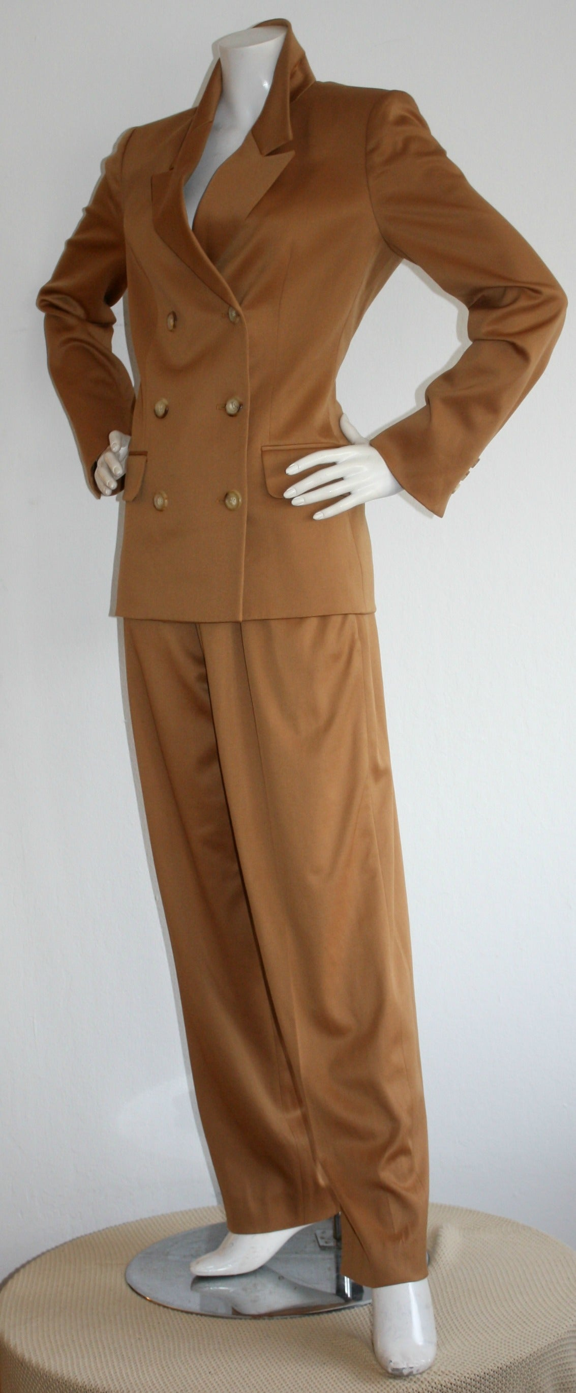 Iconic Vintage Yves Saint Laurent Le Smoking Suit Double Breasted Chic 4