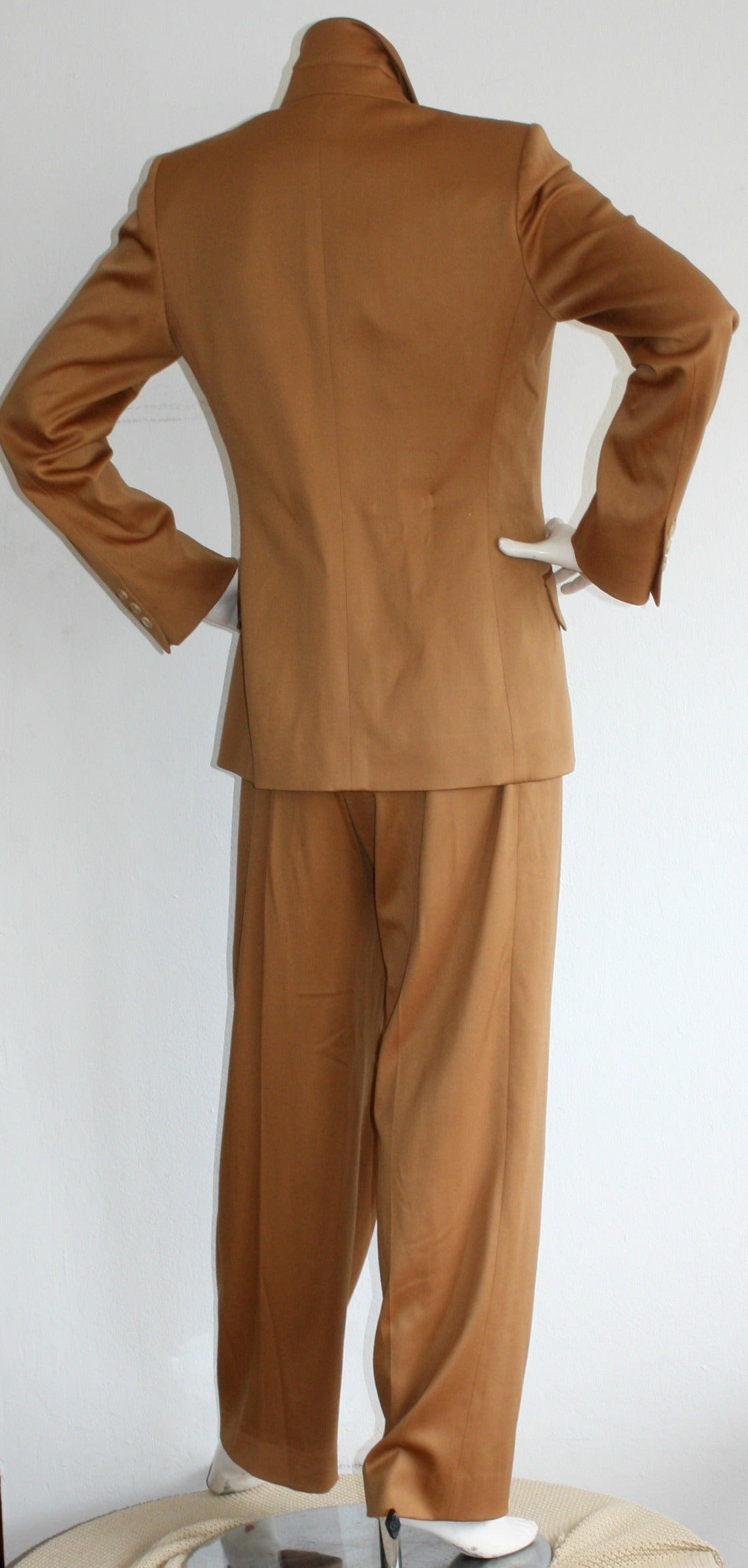 Iconic Vintage Yves Saint Laurent Le Smoking Suit Double Breasted Chic 5