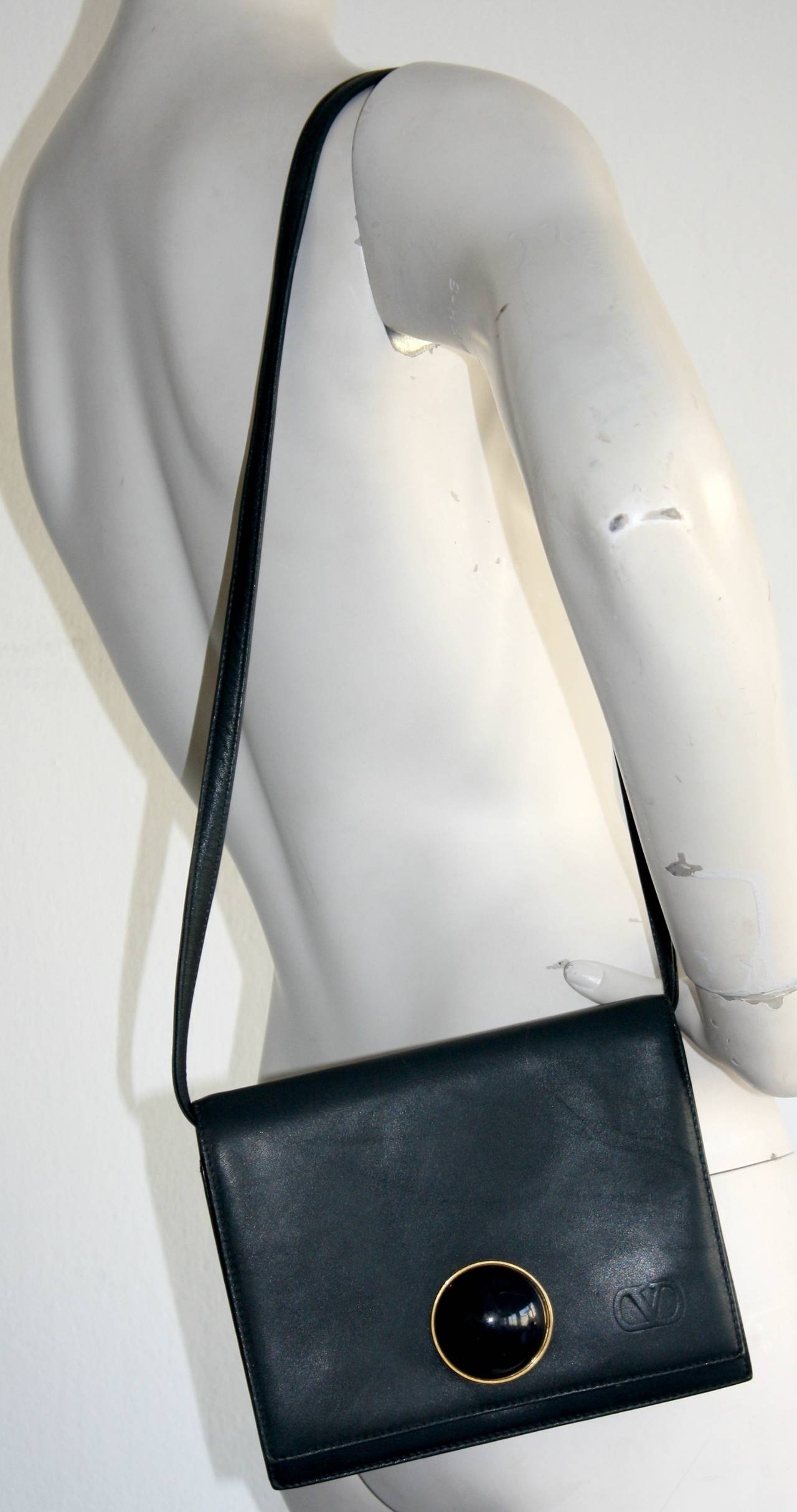 Valentino Rare 1960s Vintage Valentino Navy Blue Space Age Convertible Clutch Handbag Tiex5BFUU