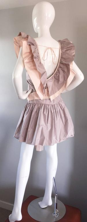 Chris Van Wyk Vintage 1980s Lavender + Pink Silk Taffeta Avant Garde 80s Dress  For Sale 1