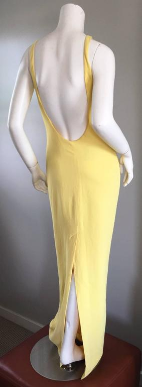 Stunning Gai Mattiolo Couture Vintage Yellow Sequined ' Starfish ' Gown / Dress 2
