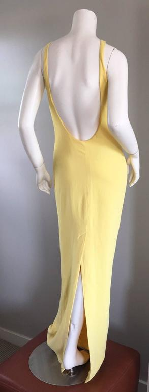 Stunning Gai Mattiolo Couture Vintage Yellow Sequined ' Starfish ' Gown / Dress 7