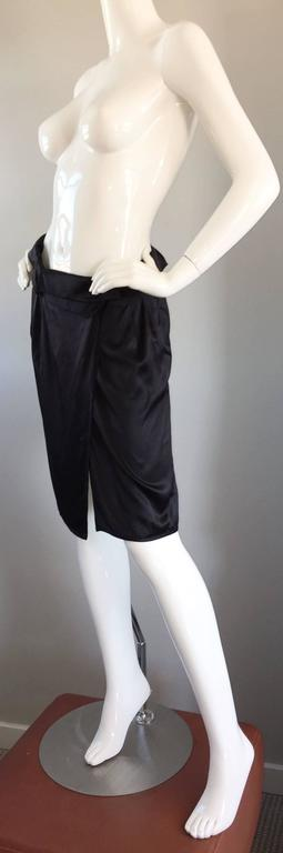 2120fe3c553b Women s Brand New Miu Miu Black Silk Asymmetrical Wrap Skirt BNWT For Sale