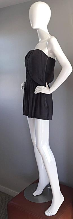 New Elizabeth and James Charcoal Gray Draped Romper Playsuit / Onesie  4