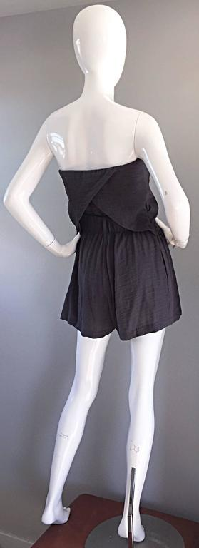 New Elizabeth and James Charcoal Gray Draped Romper Playsuit / Onesie  3