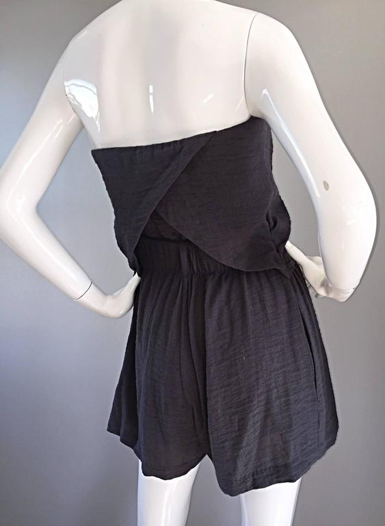 New Elizabeth and James Charcoal Gray Draped Romper Playsuit / Onesie  7