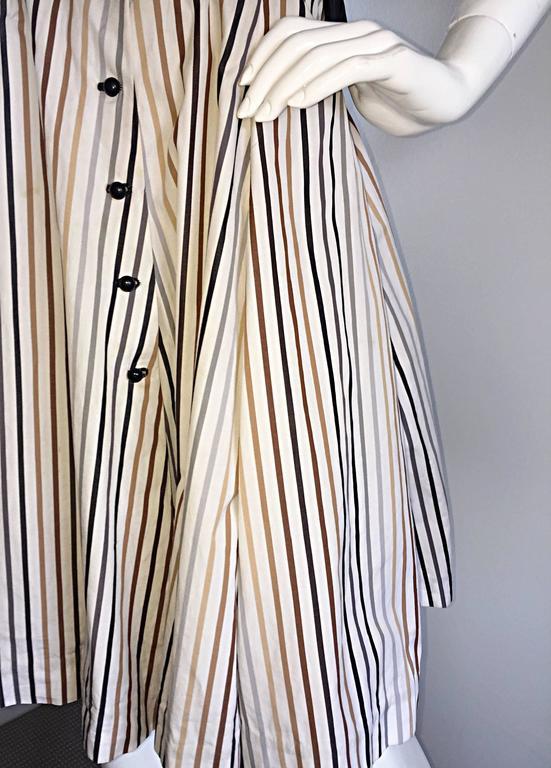Al's Attire 1990s does 1950s Vintage Black Rockabilly Pinstripe Shirt Dress 9