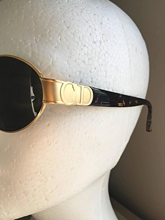 f111461d9b4b ... Sunglasses Glasses For Sale. Black Rare Vintage Christian Dior 1990s  Round