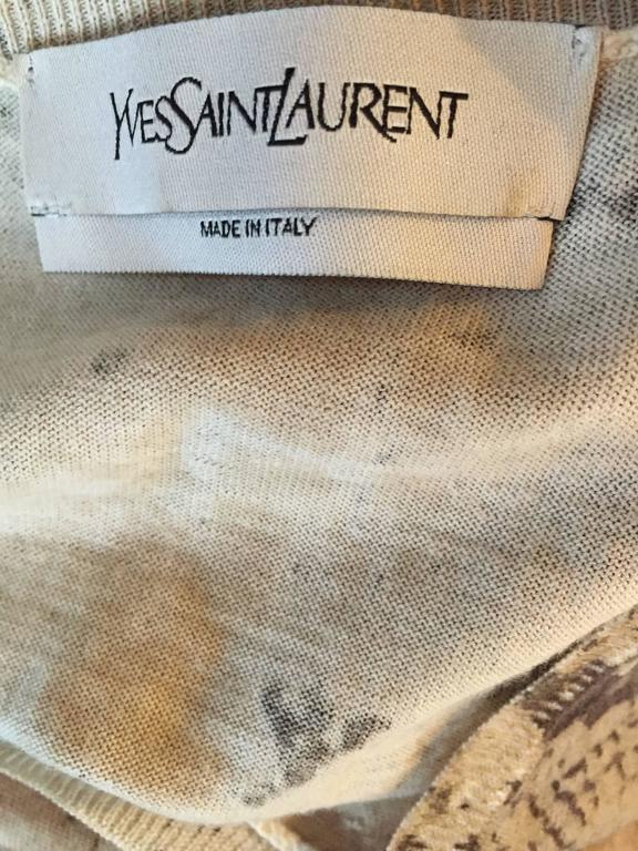 Tom Ford For Yves Saint Laurent Reptile Snake Print Lightweight Wool Top / Vest For Sale 5
