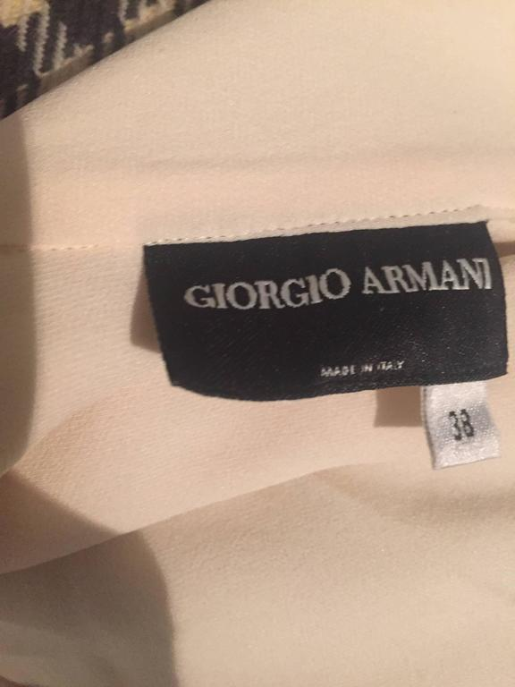Vintage Girogio Armani 1980s Ivory One Shoulder 80s Silk Cropped Blouse / Top  10