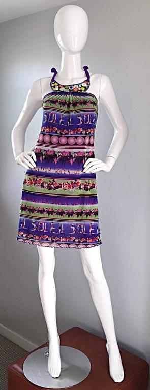 Rare and amazing 1990s / 90s JEAN PAUL GAULTIER A - Line / trapeze dress! Features divers printed throughout, spelling out,