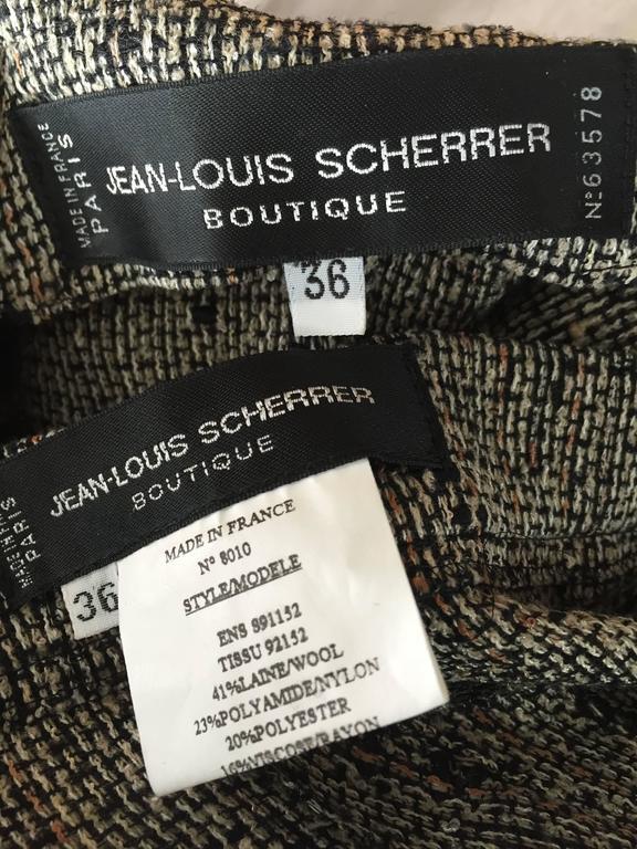 Jean - Louis Scherrer Coture Numbered Vintage Gray Le Smoking Pant Suit Ensemble For Sale 6