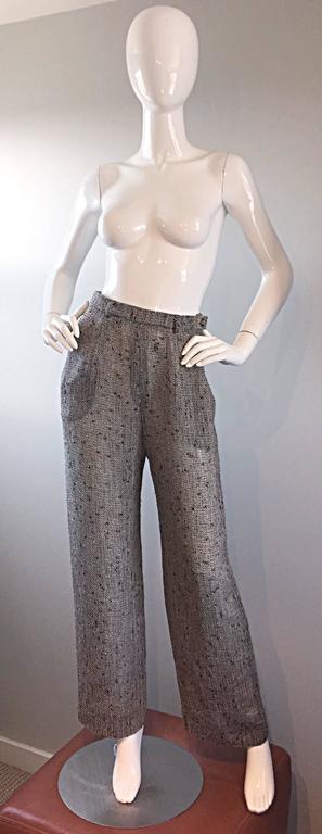 Jean - Louis Scherrer Coture Numbered Vintage Gray Le Smoking Pant Suit Ensemble For Sale 3