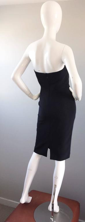 1990s James Purcell Couture Silk Strapless Vintage 90s Little Black Dress LBD 4