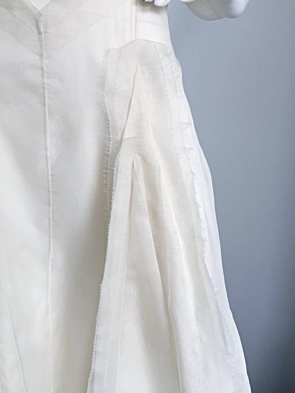 Vintage Carolina Herrera Ivory Silk Faille \' Patchwork \' Ball ...