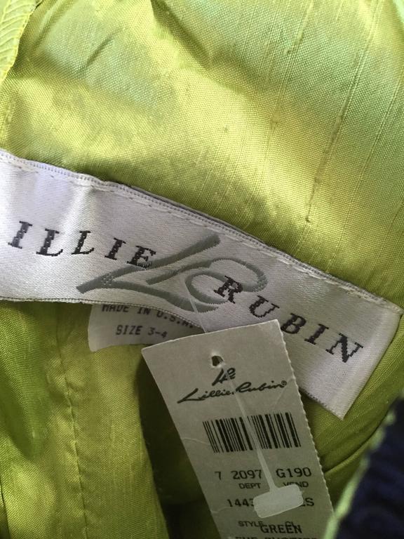 fc331f7b0c83b NWT Vintage Gigi Clark For Lillie Rubin 90s Chartreuse + Black Lace Bustier  Top For Sale