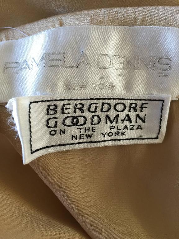 Pamela Dennis Couture Vintage Gold ' Liquid ' Silk Grecian Long Evening Skirt For Sale 6