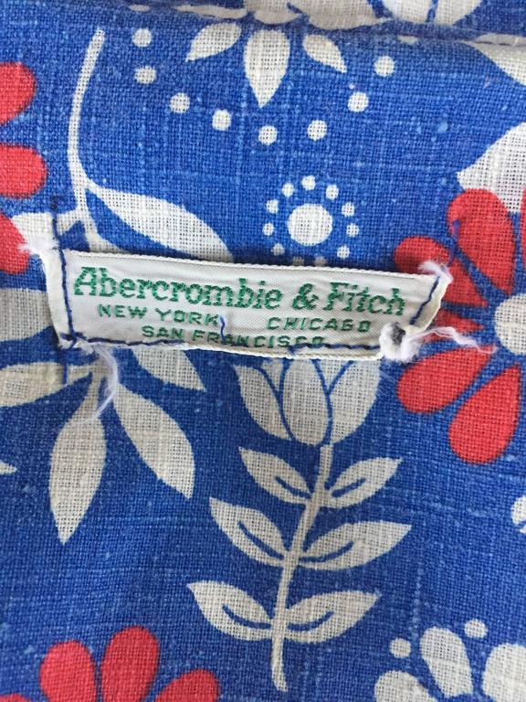 Rare 1960s Abercrombie & Fitch Romper Jumpsuit with Skort Red White & Blue 10