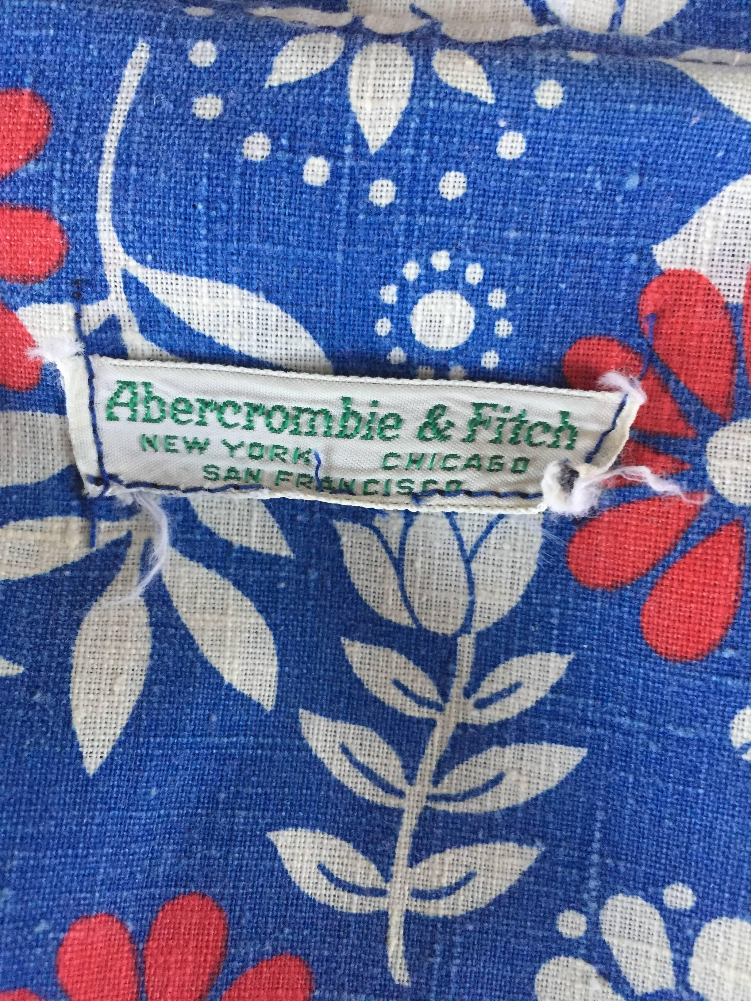 41097fd571f Rare 1960s Abercrombie and Fitch Romper Jumpsuit with Skort Red White and  Blue For Sale at 1stdibs