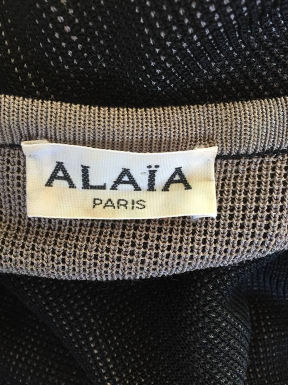 1980s Azzedine Alaia Blak Dolman Sleeve Vintage 80s Mini Dress or Sweater 10