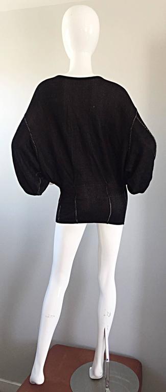 1980s Azzedine Alaia Blak Dolman Sleeve Vintage 80s Mini Dress or Sweater 4