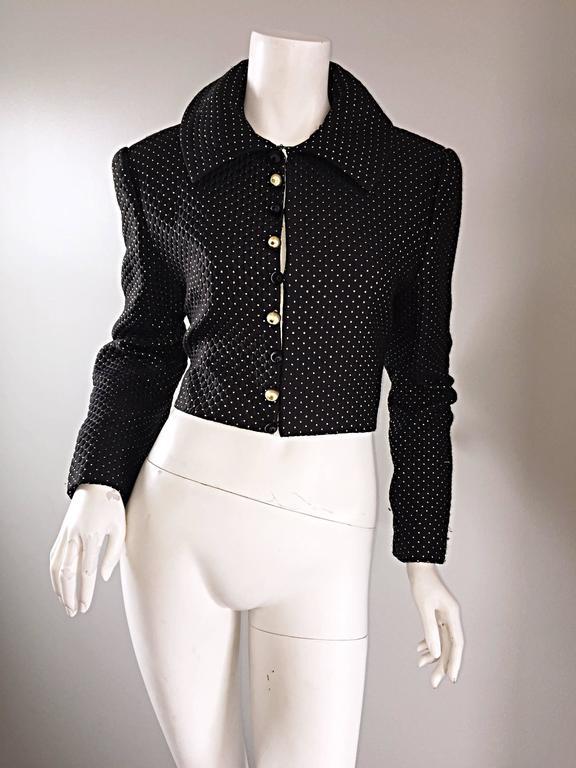 Carolyne Roehm For Saks 5th Avenue 1990s Black Gold Silk