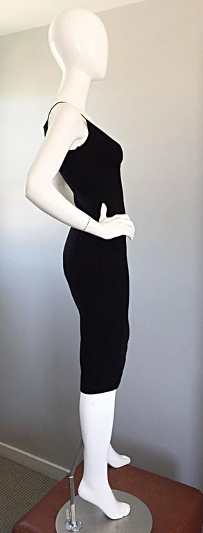 Michael Kors Collection 1990s 90s Size 0 Double Faced Wool Little Black Dress  6