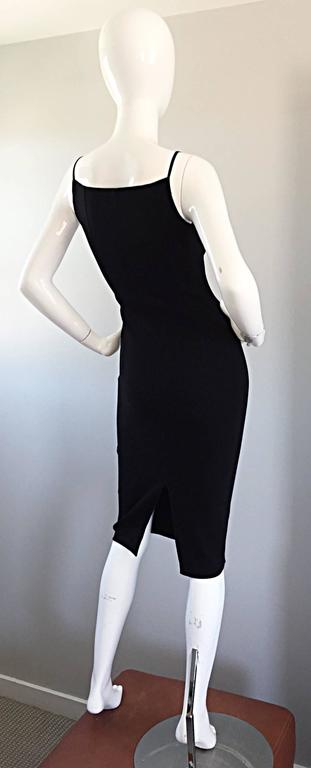 Michael Kors Collection 1990s 90s Size 0 Double Faced Wool Little Black Dress  7