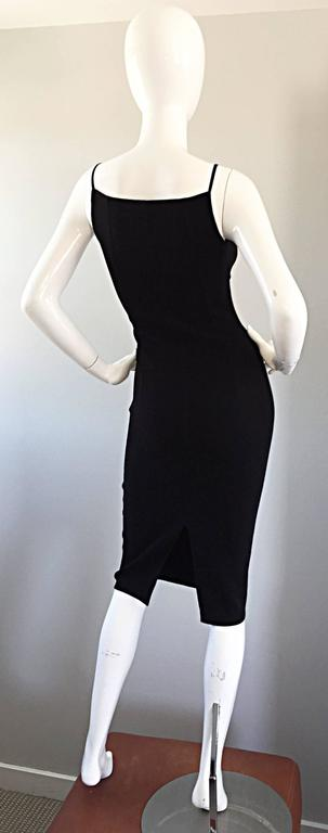 Women's Michael Kors Collection 1990s 90s Size 0 Double Faced Wool Little Black Dress  For Sale