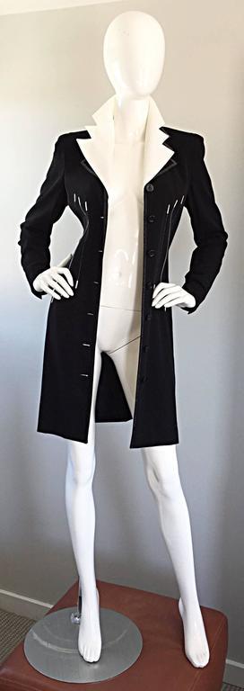 33c601e75f4cf Vintage Escada Margaretha Ley Black and White   Piano   Dress Removable  Collar In Excellent Condition