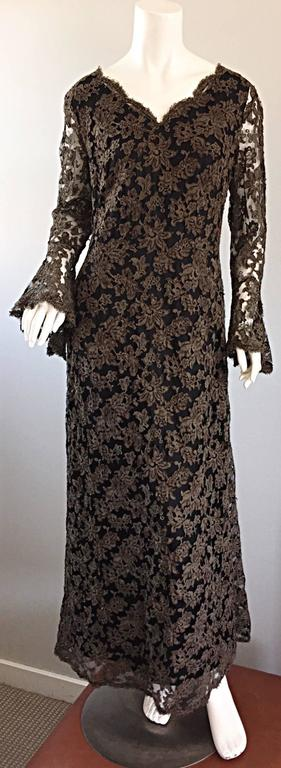 Rare 1920 maison krausz haute couture forest green taupe for 1920 s haute couture