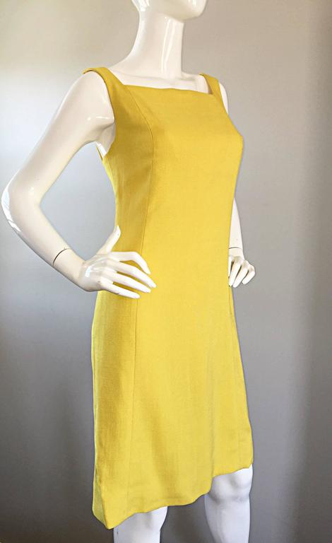 1960s Paul Stanley New York Canary Yellow Vintage Linen