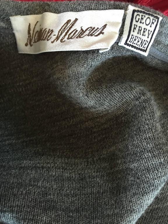 Geoffrey Beene Vintage Dark Heather Grey Size 6 Light Wool Wrap Cardigan Sweater 8