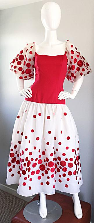Victor Costa Vintage Red And White Polka Dot Balloon
