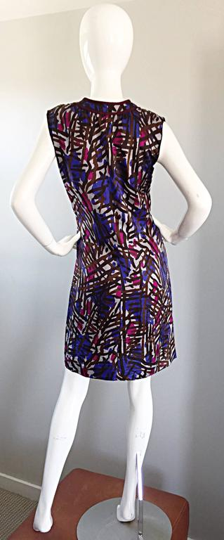 Women's Vintage Yves Saint Laurent YSL Rive Gauche Graffiti Print Silk Sleeveless Dress For Sale