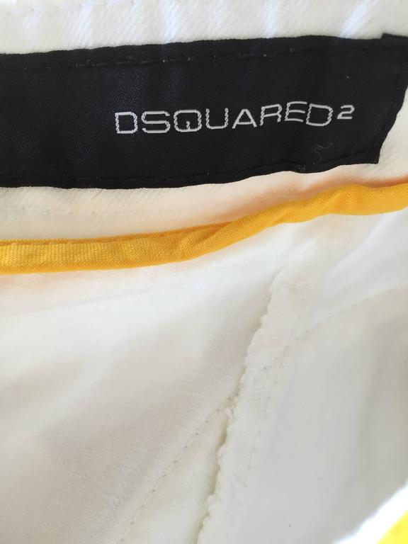Dsquared2 Sexy White Denim Strapless Bustier Corset Style Strapless Jean Top 10