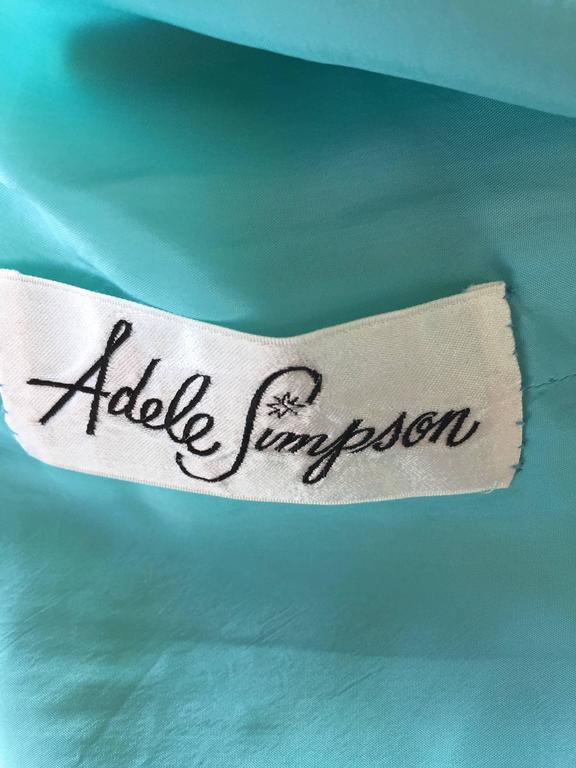 Chic Vintage Adele Simpson 1960s Pastel Flower Print Silk 60s A - Line Dress 10