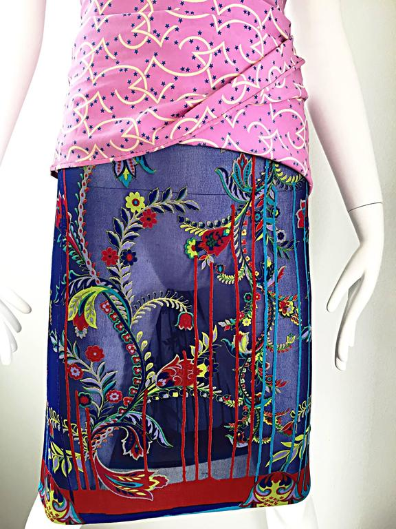 Women's Vintage Gianni Versace Couture 1990s One Shoulder Mixed Media Bodycon Star Dress For Sale