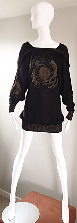 Ted Lapidus Haute Couture Vintage ' Circle of Life ' Mini Sweater Dress / Tunic 2
