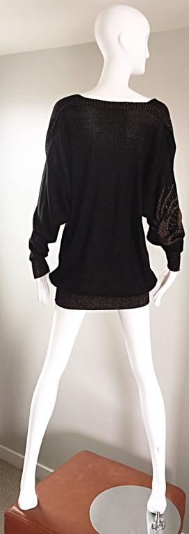 Ted Lapidus Haute Couture Vintage ' Circle of Life ' Mini Sweater Dress / Tunic 4