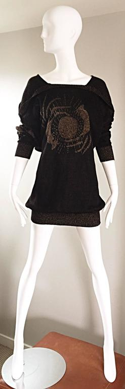 Ted Lapidus Haute Couture Vintage ' Circle of Life ' Mini Sweater Dress / Tunic 5