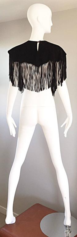 Amazing Vintage Ricky Nell Leather + Suede + Cow Hide Fringed Boho Bib Collar  3
