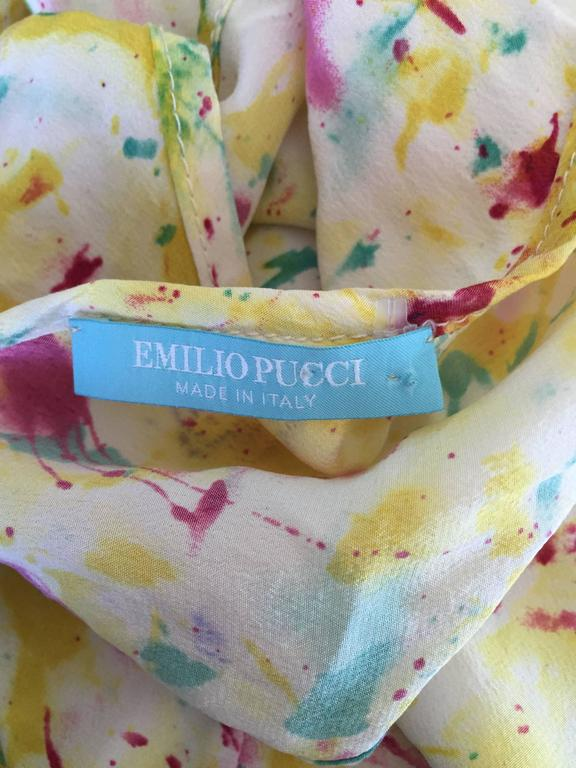 Emilio Pucci Brand New Rare Sold Out ' Splatter Paint ' Silk Sleeveless Blouse 9