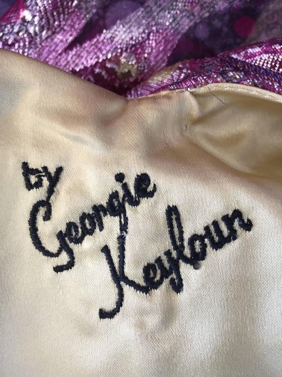 Georgie Keyloun Rare 1960s Vintage Chiffon Paisley Psychedelic 60s Caftan Dress 10