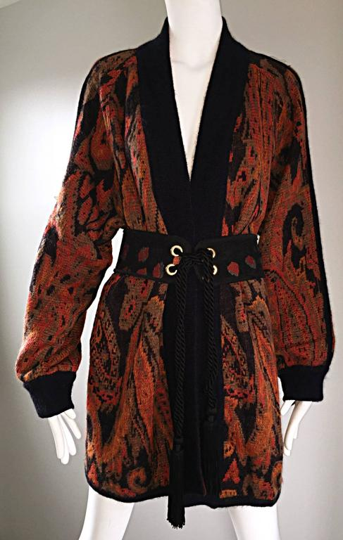 Vintage Escada By Margaretha Ley Autumnal Open Front