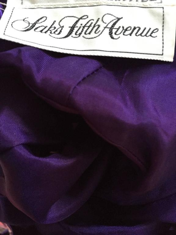 Vintage Saks Fifth Avenue Sz 8 Allover Sequined Iridescent 90s Crisscross Dress For Sale 5