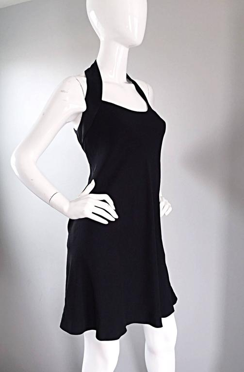 Vintage Moschino Cheap & Cheap 90s Iconic Peace Sign Cut Out Flirty Black Dress For Sale 1
