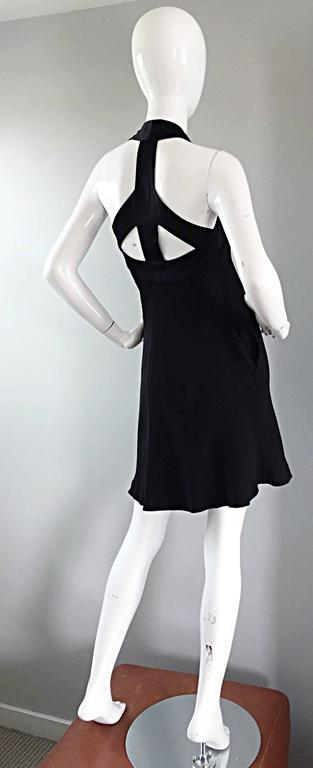 Vintage Moschino Cheap & Cheap 90s Iconic Peace Sign Cut Out Flirty Black Dress For Sale 3