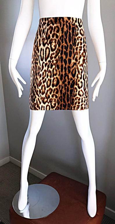Celine By Michael Kors 1990s Leopard Print High Waisted